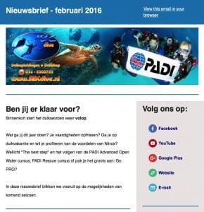 ABC Dive Nieuwsbrief februari 2016