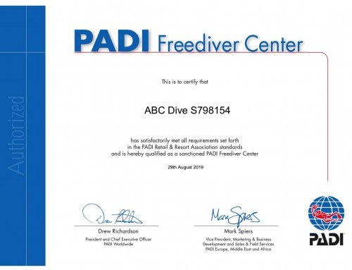 PADI Freediver Center